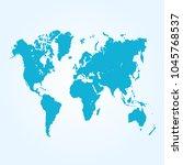 world map vector. | Shutterstock .eps vector #1045768537