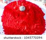 red colour abir gulal  in... | Shutterstock . vector #1045770394