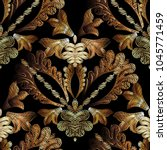 embroidery baroque vector... | Shutterstock .eps vector #1045771459