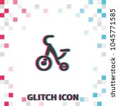 tricycle  glitch effect vector... | Shutterstock .eps vector #1045771585