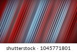 diagonal red lines. abstract 3d ... | Shutterstock . vector #1045771801