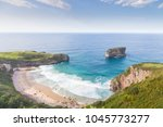sea coast view.  beach on the... | Shutterstock . vector #1045773277