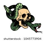 tattoo with skull and snake....