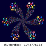colorful clock swirl twist on a ... | Shutterstock . vector #1045776385