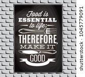 vintage typographic food quote...   Shutterstock .eps vector #1045779091