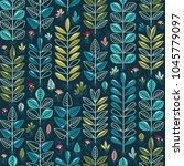 vector floral seamless pattern. ... | Shutterstock .eps vector #1045779097