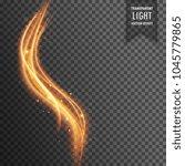 modern wavy golden light... | Shutterstock .eps vector #1045779865
