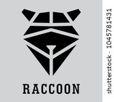 head raccoon. vector polygonal... | Shutterstock .eps vector #1045781431