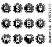 currency symbols icons simple... | Shutterstock .eps vector #1045781944