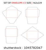 set of envelope c5 size... | Shutterstock .eps vector #1045782067