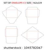 set of envelope c5 size... | Shutterstock .eps vector #1045782067