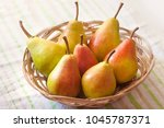 pear basket pear orchard fresh... | Shutterstock . vector #1045787371