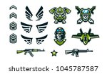 a set of military signs ... | Shutterstock .eps vector #1045787587