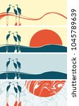 set of vector banners or cards... | Shutterstock .eps vector #1045789639