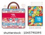 items for kids. colorful... | Shutterstock .eps vector #1045790395
