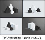 geometric composition  color... | Shutterstock .eps vector #1045792171