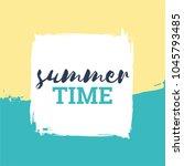 summer vector banner. it is... | Shutterstock .eps vector #1045793485