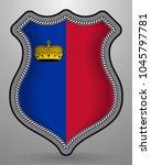 flag of liechtenstein. vector...   Shutterstock .eps vector #1045797781