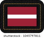 flag of latvia. vector icon on... | Shutterstock .eps vector #1045797811