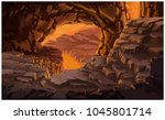 cave of hell | Shutterstock .eps vector #1045801714