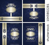 set of vector vintage luxury... | Shutterstock .eps vector #1045802281
