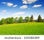 spring landscape in the... | Shutterstock . vector #104580389