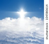 Jesus Christ In Blue Sky With...
