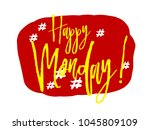 happy monday  sign with red... | Shutterstock .eps vector #1045809109