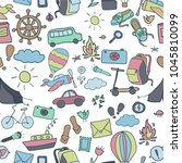 pattern with the theme of... | Shutterstock .eps vector #1045810099