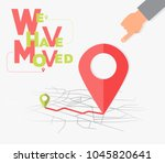 we have moved  changed address... | Shutterstock .eps vector #1045820641
