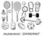 sport equipments illustration ... | Shutterstock .eps vector #1045824067