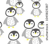 seamless  vector pattern with... | Shutterstock .eps vector #1045825387