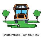 school bus design | Shutterstock .eps vector #1045834459