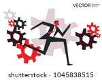 businessman progess to the goal ... | Shutterstock .eps vector #1045838515