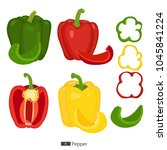 Pepper Set. Red  Yellow   Green ...