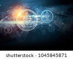 cryptocurrency ethereum digital ... | Shutterstock . vector #1045845871