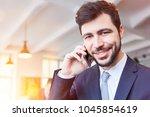 man as startup business... | Shutterstock . vector #1045854619