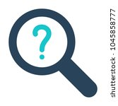 magnifying glass icon with... | Shutterstock .eps vector #1045858777