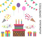 party holiday birthday vector... | Shutterstock .eps vector #1045870321
