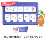 Stock vector educational game for kids and adults development of logic iq task game for children what comes 1045879384