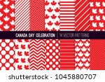 canada day vector patterns in... | Shutterstock .eps vector #1045880707