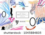 abstract universal art web... | Shutterstock .eps vector #1045884835