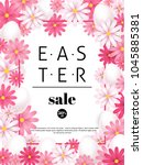 easter sale  season offers and... | Shutterstock .eps vector #1045885381