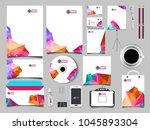 corporate business kit... | Shutterstock .eps vector #1045893304