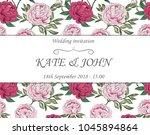 wedding cards floral design.... | Shutterstock .eps vector #1045894864