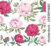 seamless pattern  with pink... | Shutterstock .eps vector #1045894885