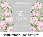 wedding cards floral design.... | Shutterstock .eps vector #1045894894