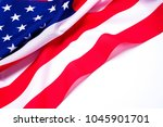 closeup of american flag on... | Shutterstock . vector #1045901701