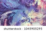bright color abstract painting... | Shutterstock . vector #1045905295