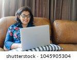 asian senior woman or business...   Shutterstock . vector #1045905304